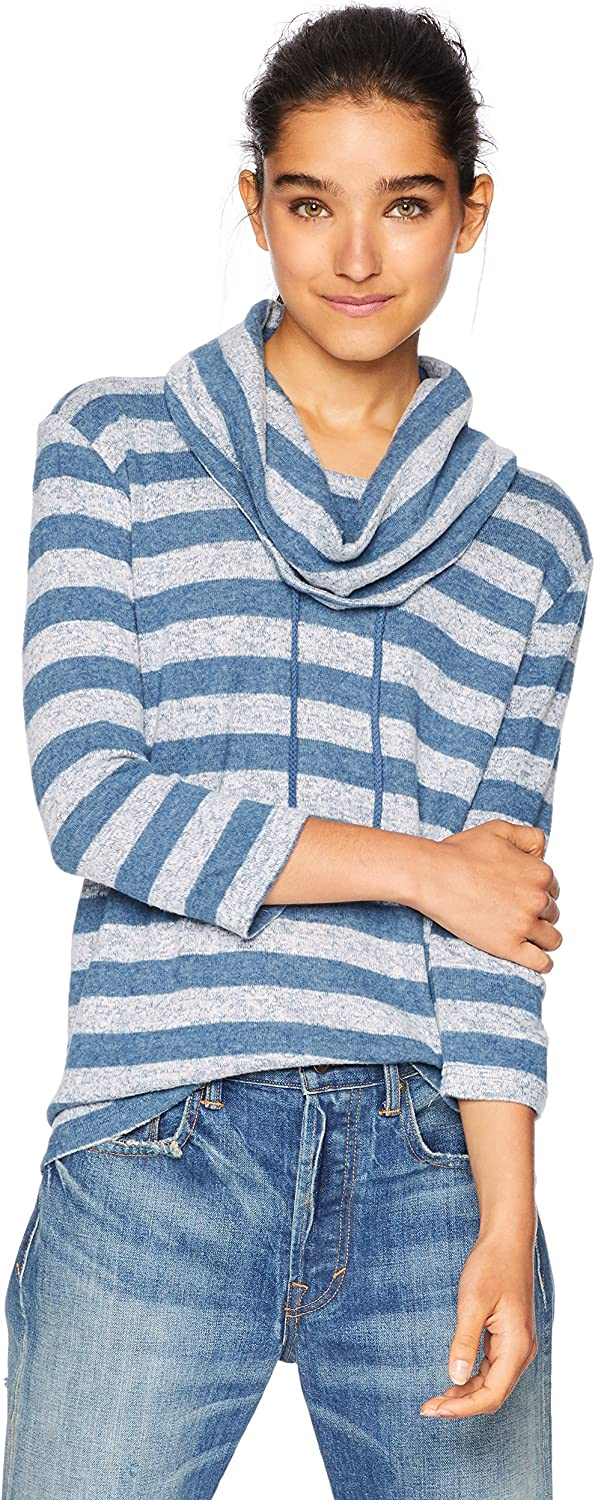 JACK Women's Tiney Dancer Marled Knit Striped Top