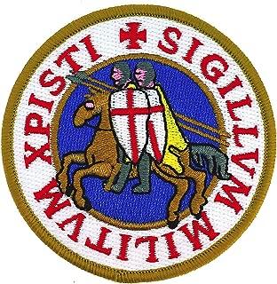 Gemelolandia Parche del Sello de los Caballeros templarios Xpisti Sigillum Militum 7 cm
