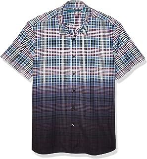 Men's Dip Dye Plaid Shirt
