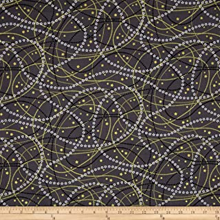Fabric & Fabric QT Fabrics All That Glitters Metallic Garlands Gray