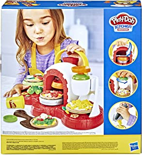 Play-Doh Stamp 'N Top Pizza Oven Toy with 5 Non-Toxic Colors