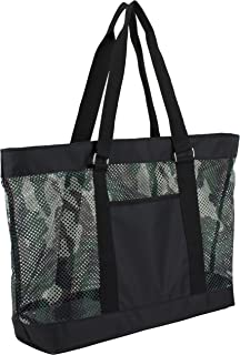 Mesh Tote Beach Bag, Army Camo