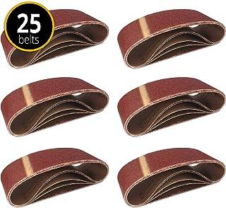 Fabric schuurbanden │ 25 stuks │ 75 x 533 mm │ 5 x korrel 40/60/80/120/180 │ voor schuurmachines │ schuurpapier │ schuurba...