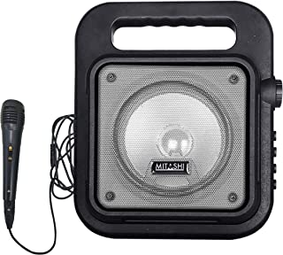 Mitashi PS 6510 BT Portable Karaoke Bluetooth Party Speaker with Mic/USB/AUX/Flashing Light/Recording Function(Grey)