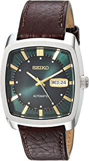 Seiko Men's 'RECRAFT SERIES' Automatic Stainless Steel and Leather Casual Watch (Model: SNKP27)