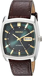 Seiko Men's Solar Recraft Stainless Steel Leather Strap Watch