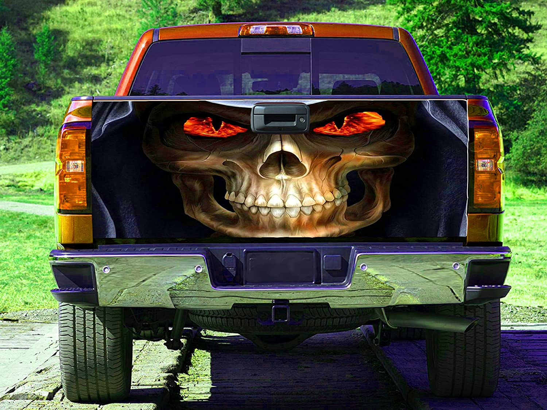 shop Skeleton Skull NEW Tailgate Wrap Decal gc25 Sticker Truck