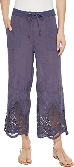 Tangerine Embroidered Gauze Pants