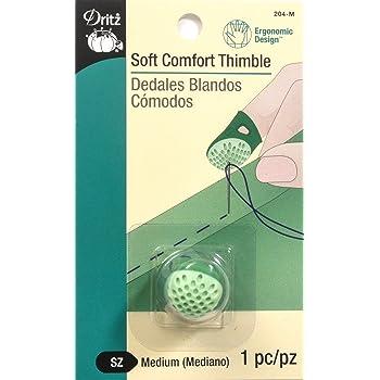 Dritz 204-M Soft Comfort Thimble, Size Medium,Green