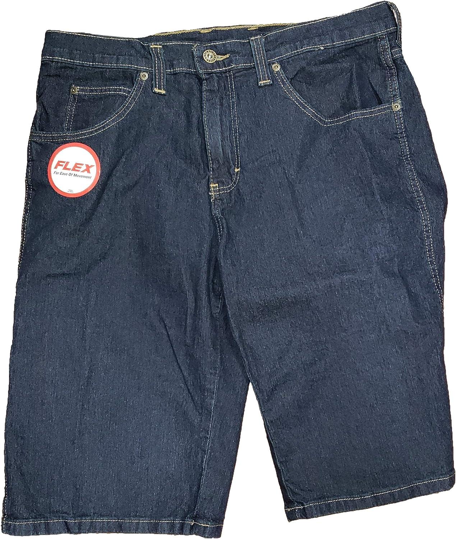 Dark Indigo Blue Denim Regular Fit Flex Denim Shorts