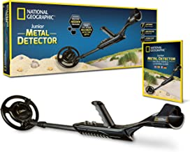 "NATIONAL GEOGRAPHIC Junior Metal Detector –Adjustable Metal Detector for Kids with 7.5"" Waterproof Dual Coil, Lightweight ..."