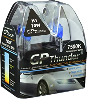 GP Thunder GP75-H1 7500K H1 12V 70W Halogen Xenon Super White Color W/QUAZE Glass (2 Bulbs)