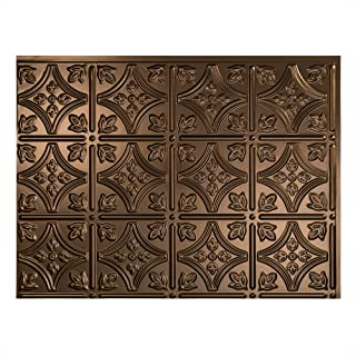 Fasade Easy Installation Traditional 1 Oil-Rubbed Bronze Backsplash Panel for Kitchen and Bathrooms (18