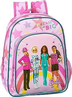 612010185 Mochila pequeña niño Adaptable Carro Barbie, Rosa