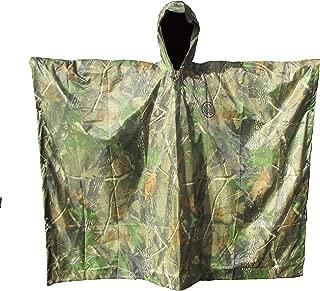 SEAL3 Rain Poncho-Waterproof-Hooded-Heavy Duty PVC Raincoat-Gear. Outdoor Multi-Use-Hunting,Backpack,Survival, Emergency,Military or Stadium. Adult Men-Women-Kids-Camo-Black-Many Colors.