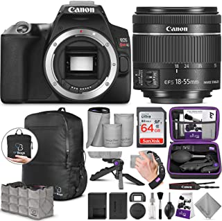 Canon EOS Rebel SL3 DSLR Camera and EF-S 18-55mm f/4-5.6 is STM Lens with Altura Photo Advanced Accessory and Travel Bundle
