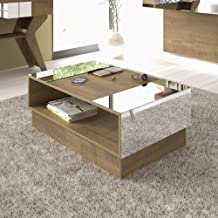 Artely Wooden Coffee Table, Pine Brown