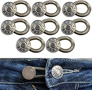 Your Day Mate Estensori per Cintura, Bottone Allarga Pantaloni Fino, Bottoni Retrattile per Jeans, Estensori Vita Regolabi...