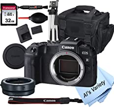 Canon EOS RP Mirrorless Camera (Body Only) W/Mount Adapter EF-EOS R + 32GB Card, Tripod, Case, and More (14pc Bundle)