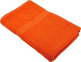 Fresh from Loom Towel for Bath 450 GSM Cotton Towel - Orange, 27 x 54 Inch