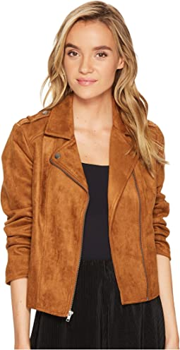 Jack by BB Dakota - Adalyn Scuba Faux Suede Moto Jacket