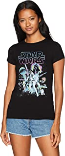 Star Wars Women's Neon Hope Poster Crew Neck Graphic T-Shirt