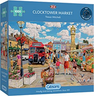 Clocktower Market 1000 Piece Jigsaw Puzzle   Sustainable Puzzle for Adults   Premium 100% Recycled Board   Great Gift for ...