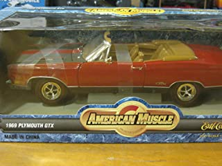 1969 Plymouth GTX Convertible in Red & Black Diecast 1:18 Scale American Muscle Collectibles by Ertl 1997