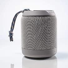Braven BRV-Mini - Waterproof Pairing Speakers - Rugged Portable Wireless Speaker - 12 Hours of Playtime - Grey