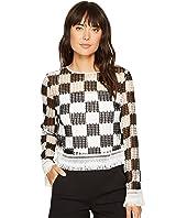 Nicole Miller - Checkerboard Breezy Pullover