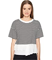 Boutique Moschino - Striped Top w/ Bottom Ruffle