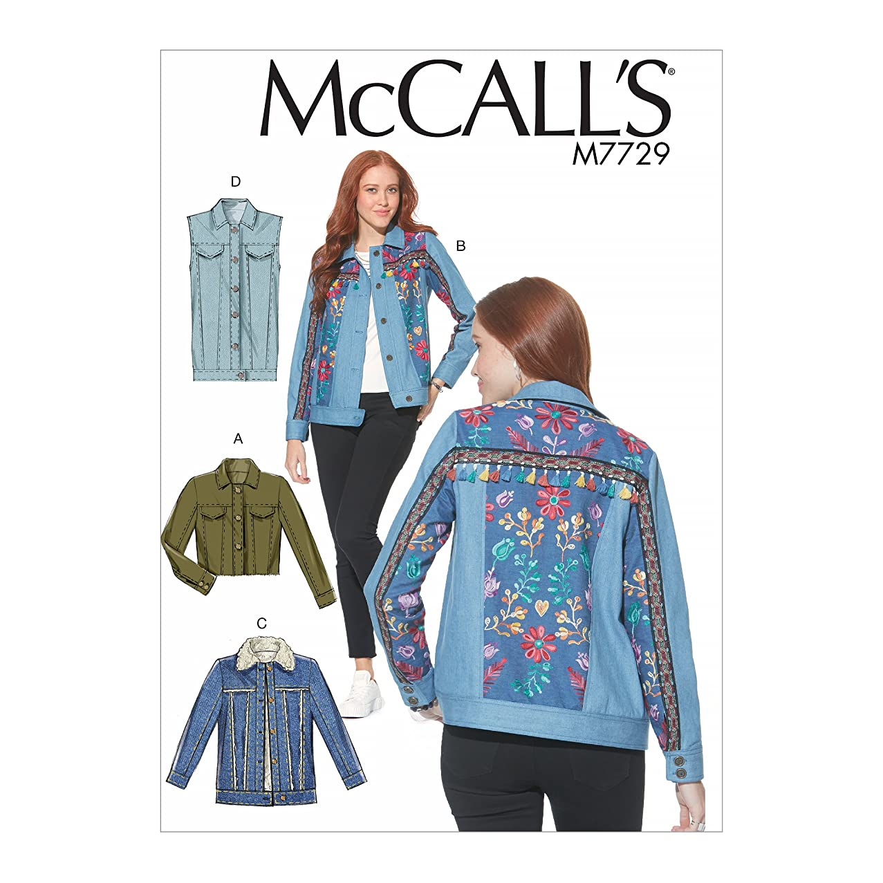 McCall Patterns M7729A50 Misses' Jackets and Vest