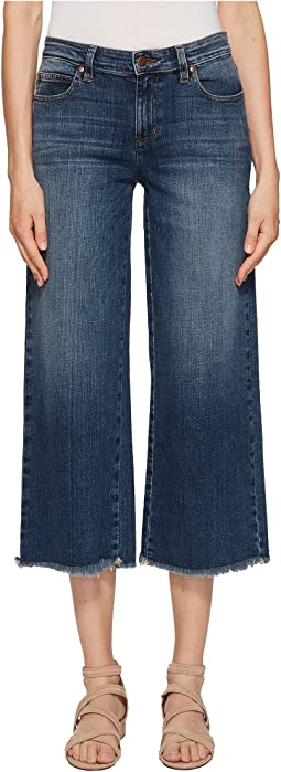 Ankle Wide Leg Jeans in Aged Indigo