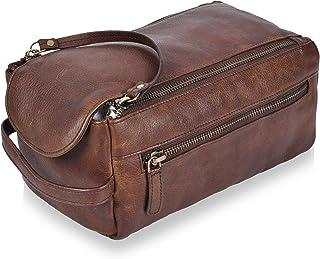 Sponsored Ad - Leather Shaving Bags for Travelling, Toiletry kit/organizer for Men