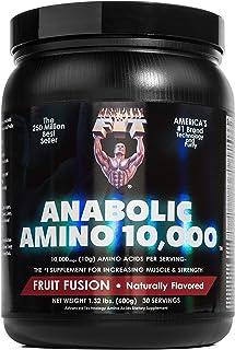 Healthy 'N Fit ANABOLIC AMINO 10,000 POWDER - Natural Fruit Fusion - EAA & BCAA. 30 Servings (1.32 lbs). 10,000 mgs Amino ...