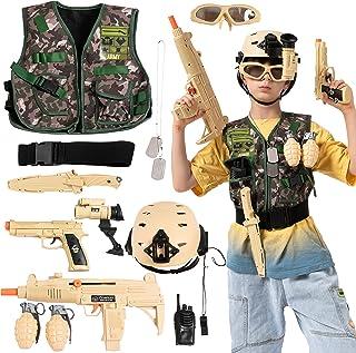 JOYIN 12 عدد سرباز لباس ارتش سرباز رزمی رزمی لوازم جانبی ست برای لباس هالووین Cosplay ، ست بازی سرباز برای کودکان ، لباس استتار لوکس و تولد