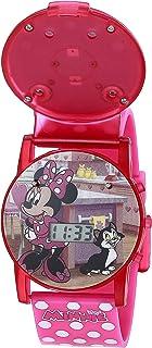 Disney Girls' Quartz Watch with Plastic Strap, Multicolor, 15 (Model: MNH6000AZ)