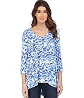 Nally & Millie - Blue White Ribbed Tunic