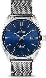 Vincero Luxury Men's Kairos Wrist Watch - Mesh Watch Band - 42mm Analog Watch - Japanese Quartz Movement