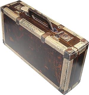 Brynnberg Schatztruhe dunkelblau 15x15x9cm Aufbewahrungsbox Schatzkiste Deko Koffer Antik Piratenkiste
