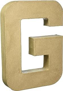 Darice 2861-G Paper Mache Letter 12Inx1.5In