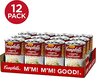 Campbell's Cooking Soup, Creamy Cauliflower, Perfect for Cooking Dinner, 10.5 Ounce Can (Pack of 12)
