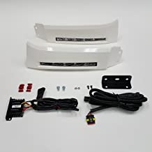 LEDIN For 2007-2013 Toyota Tundra Sequoia Front Bumper Filler Panel LED DRL Fog Lights with Bezel Wire Harness