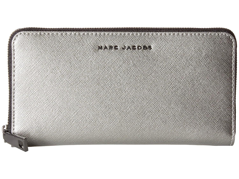 [マークジェイコブス] Marc Jacobs レディース Saffiano Tricolor Metallic Standard Continental Wallet ウォレット Acciaio [並行輸入品]