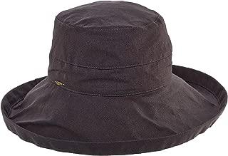 SCALA Women's Cotton Big Brim Hat with Inner Drawstring & UPF 50+ Rating