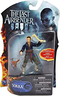 The Last Airbender Paramount Movie Series 4 Inch Tall Highly Articulated Action Figure - SOKKA with Boomerang and Sack
