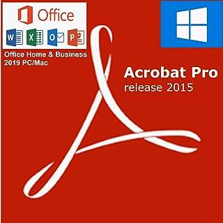 Office 2019 Home & Business, PC/Mac + Acrobat Pro 2015 PC o Mac [inmediatamente por E-Mail a través de Amazon Message Center]