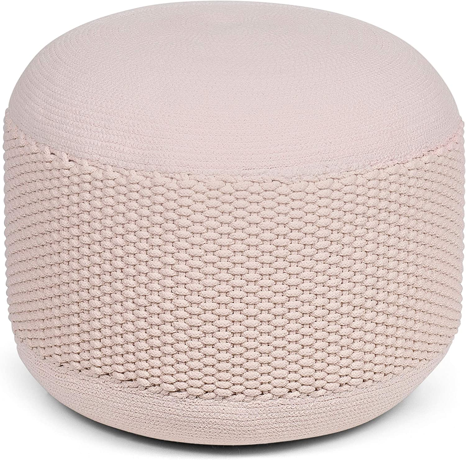 BIRDROCK Popular shop is the lowest price challenge HOME 2021new shipping free Outdoor Pouf Ottoman - Indoor Woven Natural B or