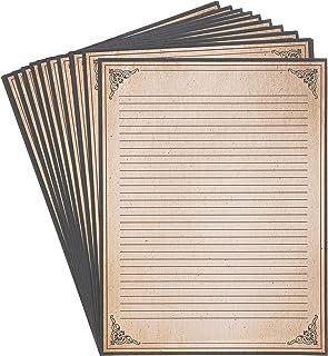 کاغذ لوازم التحریر پرنعمت 96 بسته - کاغذ سبک عتیقه - ایده آل برای نوشتن اشعار ، متن ها و نامه ها - قهوه ای ، 8 اینچ 8 اینچ
