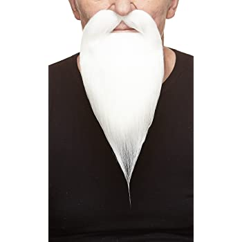 Hi-QUALITY Grey Beard Mustache Hair Makeup stage Theatrical Chinese costume Long